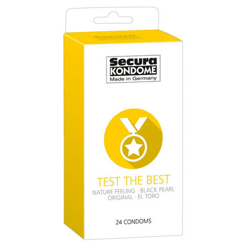 Kondomit Secura Test The Best 24 kpl